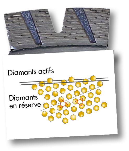 Segment X-FORCE grains diamants alignés